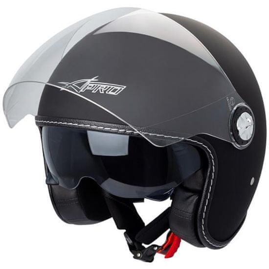 A-Pro Punker Jet čelada, mat črna
