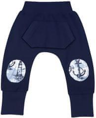 Nini fantovske hlače s stopalkami iz organskega bombaža, 68, temno modre