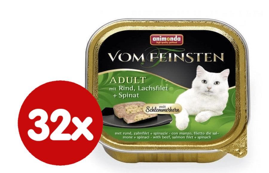 Animonda V.Feinsten CORE hovězí, losos filet + špenát pro kočky 32x100 g