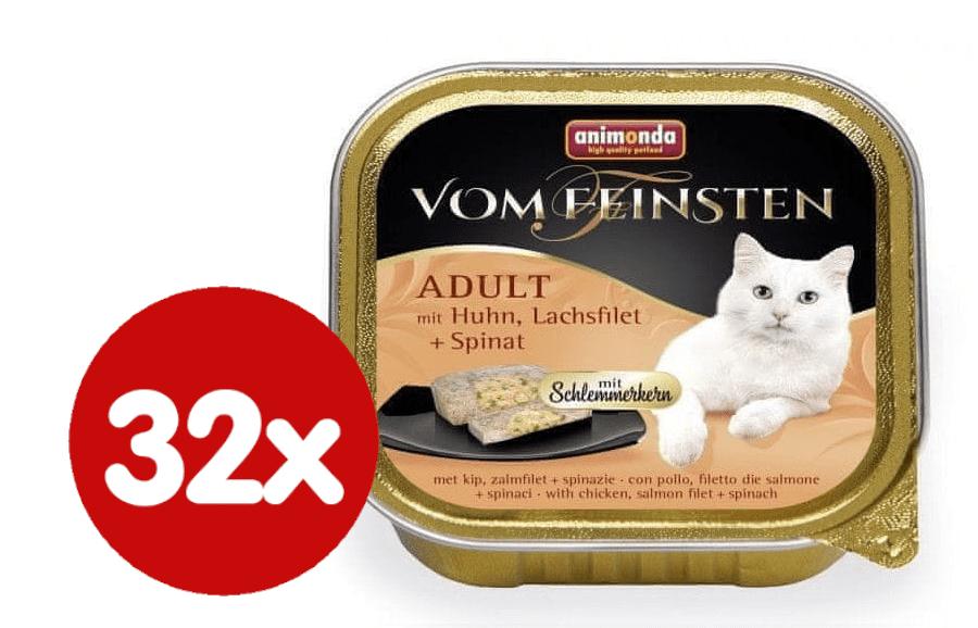 Animonda V.Feinsten CORE kuřecí, losos filet + špenát pro kočky 32x100 g