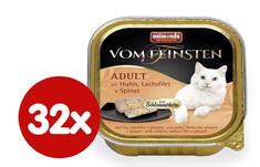 Animonda V.Feinsten CORE piščanec, file lososa + špinača za mačke, 32x100 g