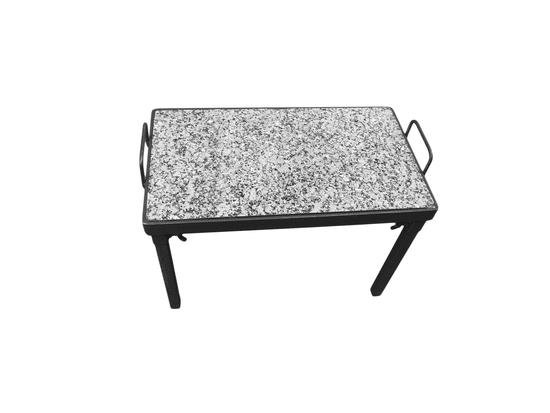 Naveneko Grilovací kámen 28,5 x 49 cm s odnímatelnýma nohama - na ohniště nebo rošt
