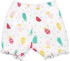 Nini dekliške kratke hlače iz organskega bombaža, 80, bele