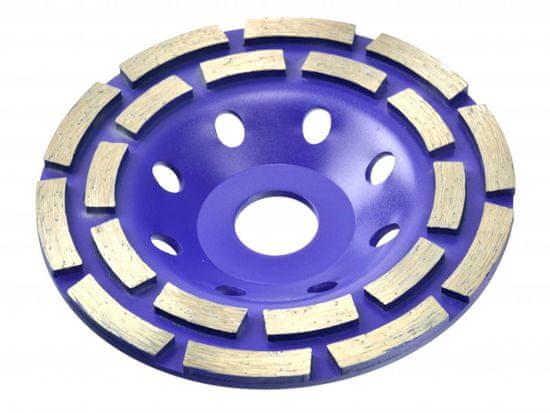 Brúsny diamantový kotúč 125 x 22 mm dvojradový bez závitu