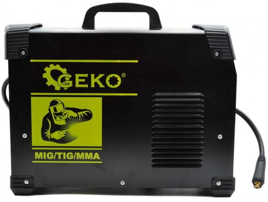 GEKO Zváračka CO2, MIG/TIG/MMA-220, drôt 0,6-0,8 mm, elektródy 2-3,2 mm, prúd 160-220 A, GEKO