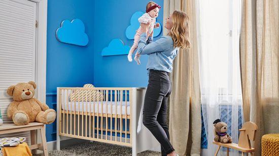 KinderKraft Baby wooden Mia otroška posteljica
