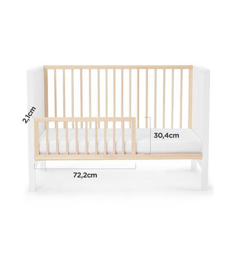 KinderKraft Baby wooden Mia otroška posteljica + vzmetnica