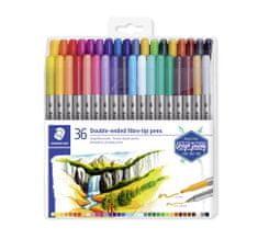 """Staedtler Fixy """"Design Journey"""", sada 36 různých barev, 0,8/3,0 mm, oboustranné 3200 TB36"""