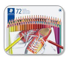 Staedtler Pastelky, 72 různých barev, sada, šestihranné 175 M72