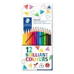 "Staedtler Barevné pastelky ""Ergo Soft"", 12 barev, trojhranná 157 C12"