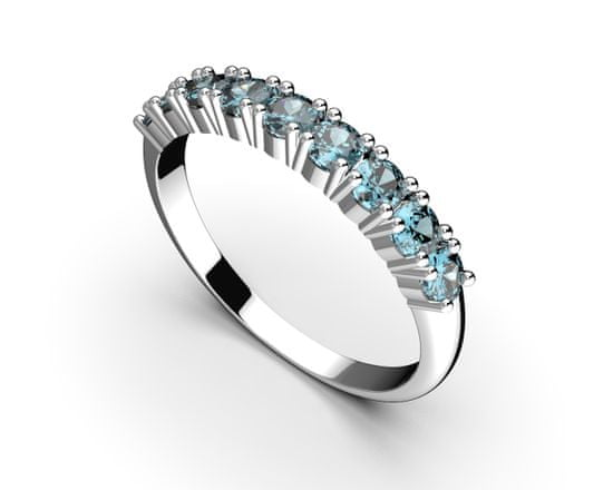 Jewstone Stříbrný prsten - modrý kubický zirkon 2,1 g, Ag 925/1000+Rh