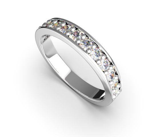 Jewstone Stříbrný prsten - kubický zirkon 3,4 g, Ag 925/1000+Rh