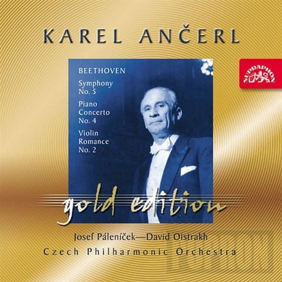 Popron.cz Karel Ančerl / Česká filharmónia - Gold 25 - Romance pre husle a orchester č. 2 F dur, CD