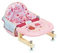 Baby Annabell Jedilni stol s pritrditvijo mize