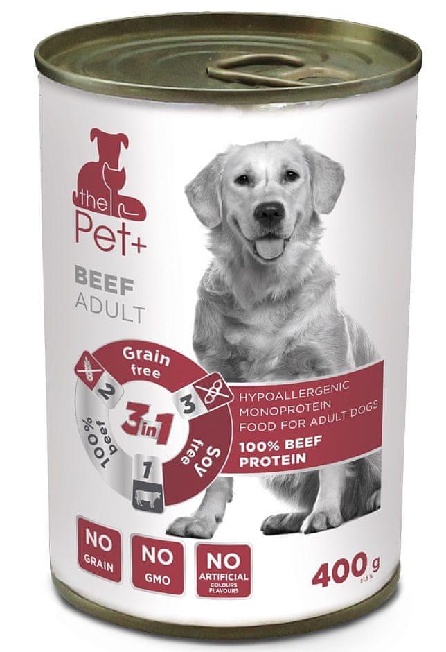 thePet+ dog tin beef 6x400 g