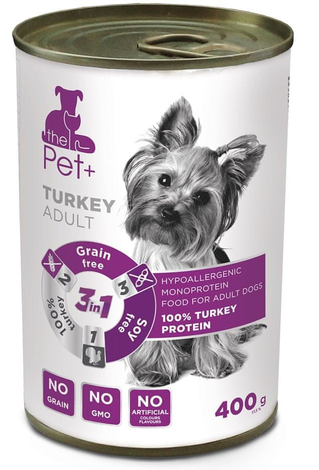 thePet+ dog tin turkey 6x400 g