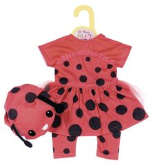 Zapf Creation Dolly Modna oblačila Ladybug, 43 cm