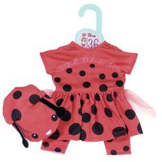 Zapf Creation Dolly Modna oblačila Ladybug, 36 cm