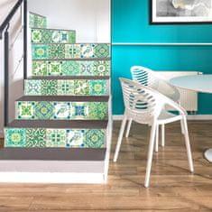 Walplus nalepke turških mozaičnih sten, zelene