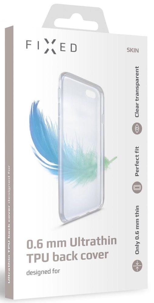 FIXED Ultratenké TPU gelové pouzdro Skin pro Samsung Galaxy A41, 0,6 mm FIXTCS-528, čiré - rozbaleno