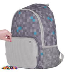 Pixie Crew kreativni prostočasni nahrbtnik Minecraft, sivo-moder