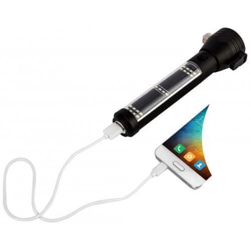 JAF Capture Multifunkční Svítilna Solar Power Flashlight (526)