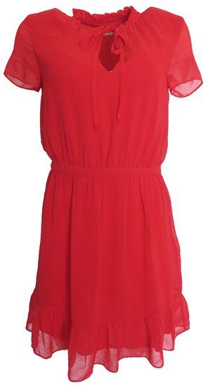 NAFNAF Letné červené šaty Naf Naf Veľkosť: XL