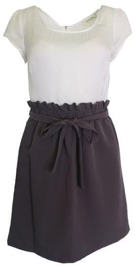 NAFNAF Farebné kombinované šaty Naf Naf ružovomodrá XL