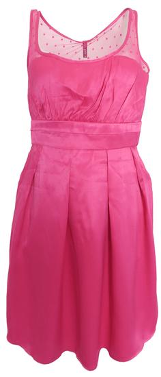 NAFNAF Ružové šaty s bodkami Naf Naf Ružová XL
