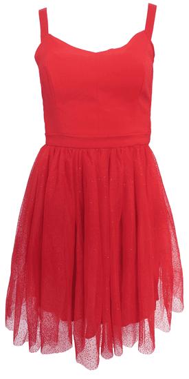 NAFNAF Červené tylovej šaty NAF NAF Červená 42