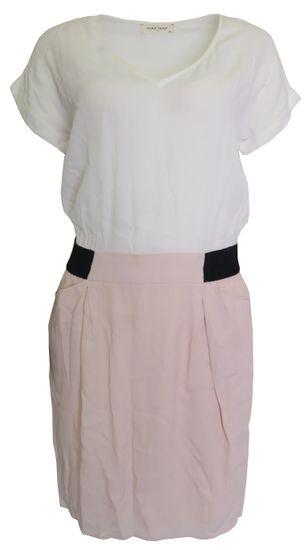 NAFNAF Bieloružové šaty Naf Naf Veľkosť: M