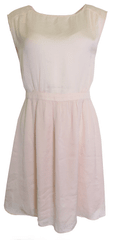 NAFNAF Svetloružové šaty Naf Naf Veľkosť: M