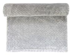 Emitex deka plyš Velvet šedá vzorovaná