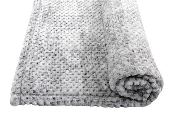 Emitex deka plyš Velvet šedá 70 x 100 cm