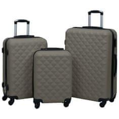 Sada skořepinových kufrů na kolečkách 3 ks antracitová ABS