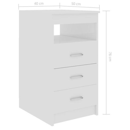 shumee Komoda, biała na wysoki połysk, 40x50x76 cm, płyta wiórowa