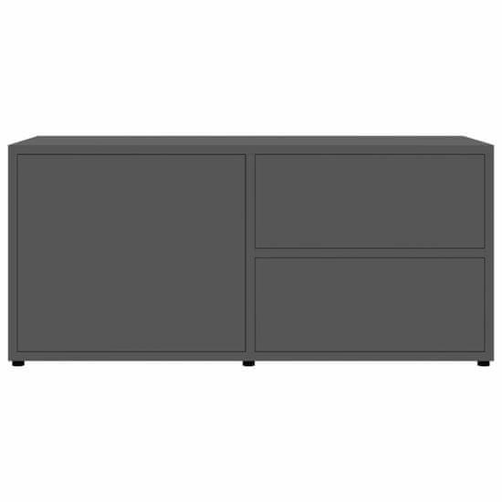 shumee Szafka pod TV, szara, wysoki połysk, 80x34x36 cm, płyta wiórowa