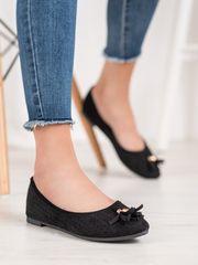 Vinceza Női balerina cipő 65884 + Nőin zokni Gatta Calzino Strech, fekete, 36