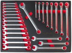 AHProfi Set obojestranskih ključev v penastem modulu za delavniške vozičke, 25 delov – H17026CAR
