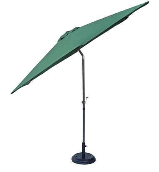 Rojaplast parasol przeciwsłoneczny 300 cm odchylany ciemnozielony