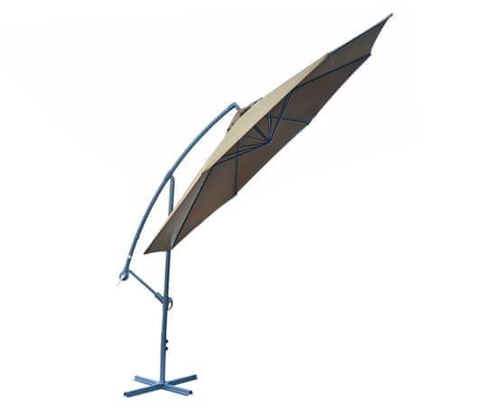 Rojaplast Slnečník 8080 bočný (o350cm) hnedý