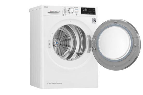 LG sušička prádla RC80EU2AV4D + 10 let záruka na motor a kompresor