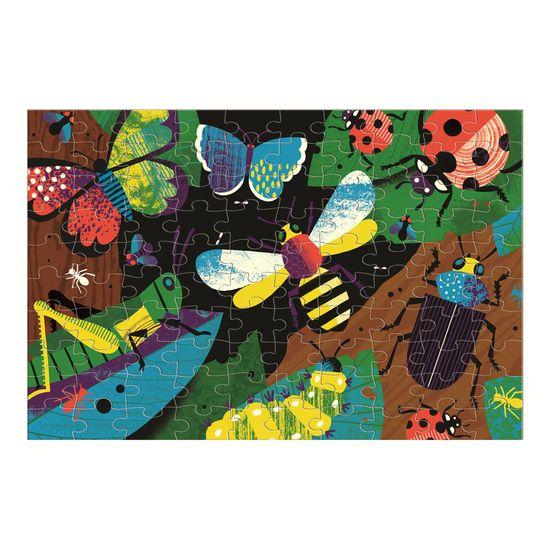 Mudpuppy Glow in Dark Puzzle - Čudovite žuželke (100 delčkov) / Amazing Insects