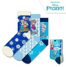 "EUROSWAN Dekliške visoke nogavice ""Frozen"" - 3 kos v paketu - 31–34"