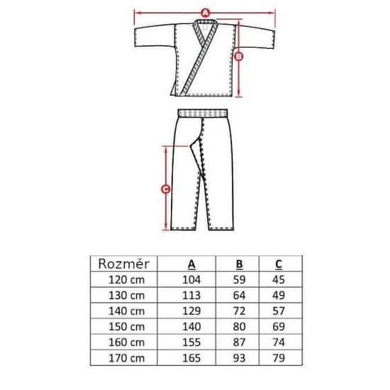 DBX BUSHIDO dětské kimono ARK-3102, 160 cm