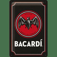 NOSTALGIC-ART tabliczka metalowa: Bacardi (Black Logo) - 20x30 cm