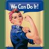 Postershop metalni znak We Can Do It!, 20x15 cm