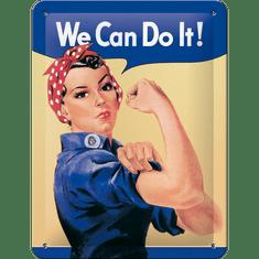 Postershop kovinski znak We Can Do It!, 20x15 cm