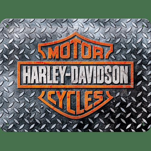 Postershop kovinski znak Harley-Davidson (Diamond Plate), 20x15 cm