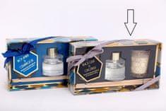 Sifcon Dárkový set GEOMETRIC - 30 ml difuzér, 2× vonná svíčka, BLACK OUD & GINGERLILY